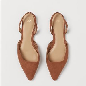 NWT. H&M Brown Sling Back Shoes.